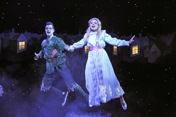 Barney Harwood as Peter Pan and Hannah Nicholas as Wendy