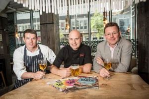 City Businesses get ready for A Taste of Nottingham. l to r - Chef's from Oaks & Chino Latino with Philip Trease from Weavers