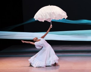 Alvin Ailey American Dance  Theater- Jacqueline Green in Alvin Ailey's Revelations. Photo by Paul  Kolnik. (horizontal)