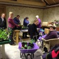 Volunteers working at Reach's Flower Pod