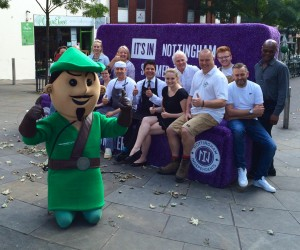 Businesses from Derby Rd gather on the sofa