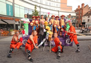 Nottingham BID chairman - Jeff Allen with The Chinese State Circus