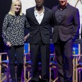 L-R Kerry Ellis, Hugh Maynard and Russell Watson at the launch of Heaven on Earth