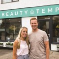 RS Lucy and Martin Goodwin outside the Beauty Temple in Mapperley