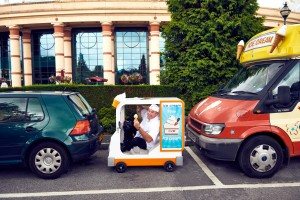 Stoop for a Scoop: World's Smallest Ice Cream Van Unveiled
