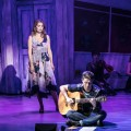 Debra Stephenson (Alison) and  Lewis Kidd (Liam) in UK tour of Son of A Preacher Man. Photo by Darren  Bell.
