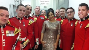 Faith with some Coldstream guardsmen