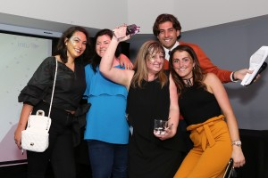 TOWIE'S Arg presents Fiona Lewis (centre) with her award