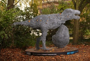 Roary the TRex in place at Wollaton Hall