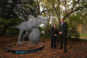 Wollaton Park site manager, Penny Beniston and BID director, Neil Fincham