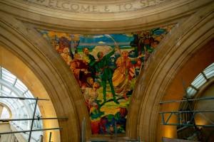GF Tomlinson Murals Nottingham council house-Robin Hood