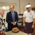 The School 's founder Alison Parente, Mark Carney and head of baking Wayne Caddy