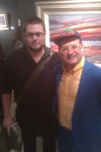 Here I am meeting Timmy Mallet (at his art exhibition) a few years back