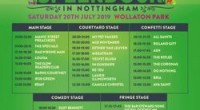 Wollaton Park, Nottingham Saturday 20 July 2019   Stage times have been revealed for Splendour, Nottingham's biggest summer party taking place on Saturday 20 July.     With just […]