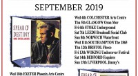 SPEAR OF DESTINY ONE EYED JACKS@35 UK TOUR SEPTEMBER 2019 One Eyed Jacks was the band's 2nd release on the major label Epic Records. For many original fans this […]