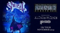 "GHOST TO BRING ""THE ULTIMATE TOUR NAMED DEATH"" TO NOTTINGHAM THIS NOVEMBER   TICKETS ON SALE FRIDAY 12 JULY AT 10AM   Following the coveted Special Guest slot on Metallica's […]"