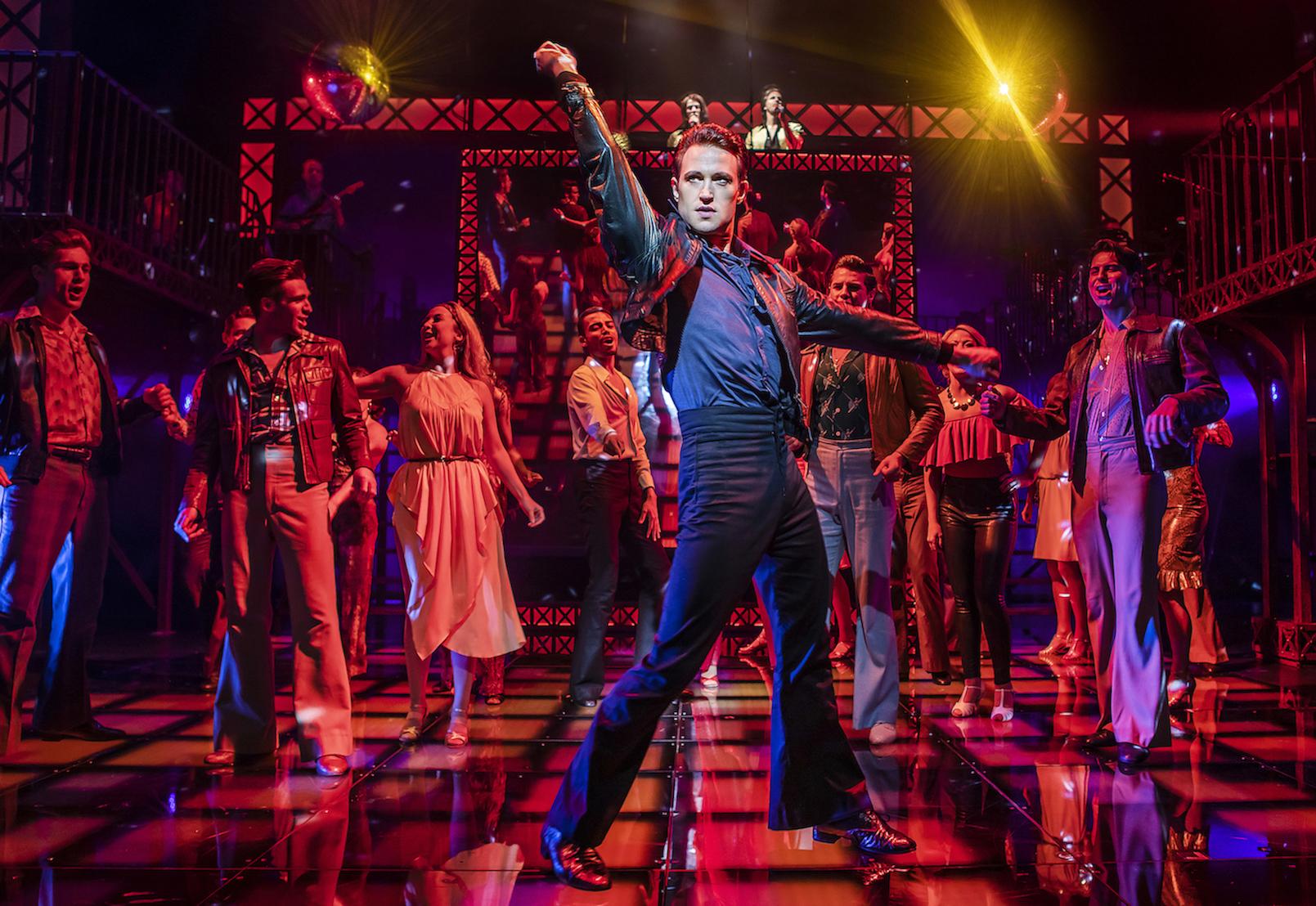 Richard Winsor (Tony) & the Cast (may contain previous cast) of Saturday Night Fever - UK Tour (c) Pamela Raith Photography_051