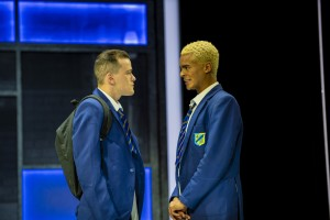 George Sampson (Dean) and Layton Williams (Jamie New) in the Everybody's Talking About Jamie Tour. Photo credit Matt Crockett